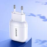USAMS T19 5V 2.1A Adaptador de carregador de parede de energia USB universal para EUA Plug da UE para Samsung S10 + para Xiaomi Redmi Note8