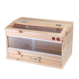 Wooden Tool Reptiles Feeding Tank Box Enclosure Heating Cage Lizard Snake