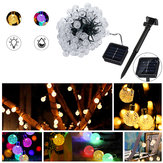 Zonne-energie 12M 100 LED Crystal Ball String Fairy Light voor Garden Christmas Tree Decorations Lights Outdoor Decor