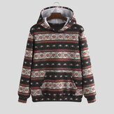 Autumn Character Printng Hooded Casual Sweatshirt