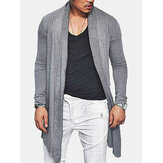 Mid Long Solid Color Casual Cardigans