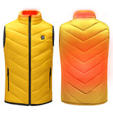 Children USB Heated Warm Back Cervical Spine Hooded Winter Jacket Motorcycle Skiing Riding Coat