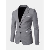 Mens Business Casual Plaid Slim Blazers
