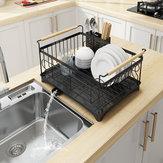 Pia de aço inoxidável Escorredor de pratos Prato Escorredor de pratos Escorredor Prateleira de armazenamento de cozinha Rack Organizador Titular Prateleira Escorredor