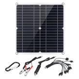 Câble de charge 10-en-1 double port USB monocristallin pour panneau solaire IP65 35W