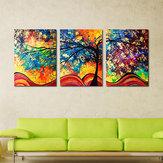 Miico El Boyalı Üç Kombinasyon Dekoratif Tablolar Para Ağacı Duvar Sanatı Ev Dekorasyon Için