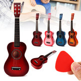Wooden Kids Toy Guitar Childrens Acoustic Prop Musical String Practice Gifts Set