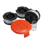 3Pcs Weed Eater String Substituição Spool Line + 1Pc Lawnmower Trimmer Cap & Spring
