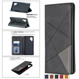 Bakeey Geometric business Magnetic Buckle Holster Flip Stand Protective Case For Xiaomi Redmi Note 8