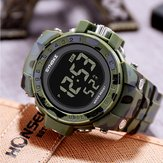 SYNOKE 9030 Fashion Men Watch ضد للماء Week عرض إنذار EL ضوء Camouflage رقمي Watch