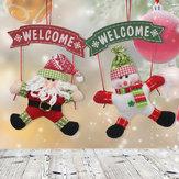 Papai Noel Boneco de neve Porta de Natal Ornamento de suspensão Árvore Decoração de casa Presente de Natal