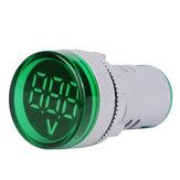 5 stücke Grün ST16VD 22mm Lochgröße 6-100 VDC Digital Voltmeter Runde Spannungsprüfer Tester Mini LED Spannungsanzeige Signal Licht Monitor