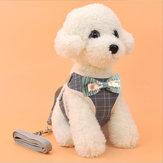 Pet Strap Leash Собака Маленький Собака Vest-Style Bow Evening Платье Нагрудный ремень Собака И Кот Универсальный Собака Traction Веревка