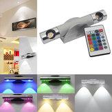 6 W LED Luz Da Lâmpada de Parede com remoto Controlador Rotatable Corredor Spotlight Quarto Home Decor