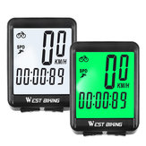 WEST BIKING 2.1 inch LED Backlight Wireless Bike Computer Bicycle Speedometer LCD Screen Display Waterproof Bicycle Accessories