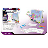 3D Magic Drawing Pad LED Writing Tablet Children Drawing Writing Board Gifts for Kids