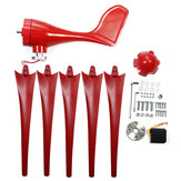 610W 12V/24V 3/5Pcs Blades Wind Turbine Generator Red With Controller