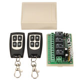 4CH 200M Wireless Remote Control Relay Switch Receiver + 2 Transceiver 4 Channel 12V DC for Smart Home