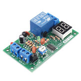 JK12-A 12V Time Adjustable Relay Module with LED Digital Tube Dynamic Display Countdown Single Chip Relay