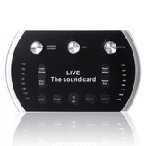 EAX 4.0 1200mAh Two Channel USB Interface External Sound Card Microphone Webcast Live Sound Card