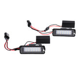 Pair LED License Plate Lights for Seat VW for Porsche