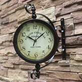 2 style Vintage Retro Indoor Outdoor Wiszący zegar ścienny do dekoracji wnętrz