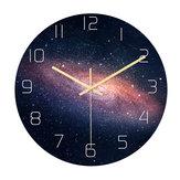 Loskii CC021 الإبداعية نمط النجوم جدار ساعةحائط كتم الجدار ساعةحائط الكوارتز جدار ساعةحائط للمنازل والمكاتب ديكورات