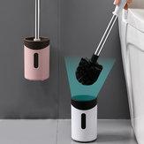Bathroom Pendants Long Handle Cleaning Brushes Wall Hanging Toilet Brush Holder Set