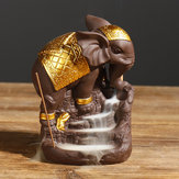 Ganesha Backflow Bruciatore di incenso Elephant G od Censer bastone Supporto