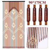 32 Lines Wooden Bead String Door Curtain Blinds Fly Screen Bedroom Divider Panel Decorations 90*175cm