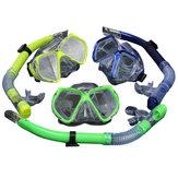 Conjunto de snorkel de buceo para adultos Máscara de buceo + Gafas de agua Snorkel Equipo de traje de buceo de natación