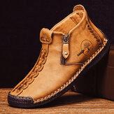 Khâu bằng tay Da chống trượt Giày cao đến mắt cá chân