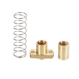 T8 Lead Screw Copper Anti-Backlash Spring Loaded Nut Pitch 2mm Lead 4mm Laser Accessories