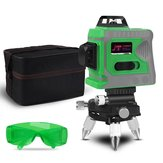 Laser Level 12 Lines 3D Level Self-Leveling 360 Horizontal And Vertical Cross Super Powerful Green Laser Level With Tripod Bag Glasses