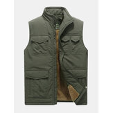 Mens Mutil zakken Outdoor fleece voering verdikte warme vest