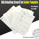 16 قطعة / الوحدة ic بطاقة رقاقة BGA reballing استنسل مجموعات مجموعة قالب لحام آيفون x 8 7 6 ثانية 6 Plus se 5 ثانية 5c 5 4S 4 باد جودة عالية