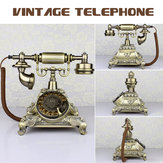 Vintage Antique Style Old Phone Retro Push Button Rotate Dialing Dial Telephone Feature Phone