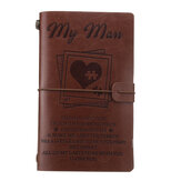 Engraved Leather Journal Notebook Diary Custom Message Quotes Gift Anniversary Birthday Graduation2