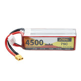 ZOP Power 14.8V 4500mAh 75C 4S Lipo Batterie XT60 Plug pour RC Drone Car