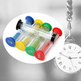 1/3/5/10 Minutes +30 Seconds Hourglass Clock Sand Glass Sandglass Desk Decor Game Timer Toys Gifts (5PCS)