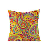 Bohemian Mandala Folk Geometrical Style Linen Throw Pillow Case Home Sofa Art Decor Cushion Cover