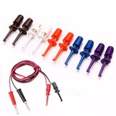 50pcs Multimeter Wire Lead Test Hook Clip Electronic Mini Test Probe Set Red White Blue Black Purple For Repair Tool