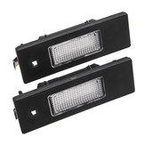 Pair 24-SMD LED License Plate Lights 6000K White For Fiat Marea Alfa 46408006 46786572