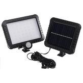 56 LED 50W réverbère solaire PIR détecteur de mouvement lampe de sécurité jardin extérieur