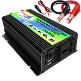 3000W Car solare Power Inverter DC 12V a AC 110V Doppia porta USB Convertitore a onda sinusoidale modificata