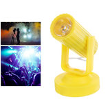 RGB LED Colorful Podiumlamp Geel Shell Spot Light voor Disco KTV Party AC110-220V