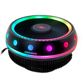 Coolmoon DC 12V 3Pin UFO Colorful Backlight 100mm CPU Dissipador de calor do ventilador do PC para Intel / AMD Para o computador PC Caso