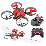 L6082 DIY All in One Air Genius Drone de 3 modos com asa fixa planador Quadricóptero RC RTF