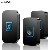 CACAZI Wireless Doorbell Waterproof 300M Remote Battery 2 Button 1 Receiver Intelligent Home Calling Bell