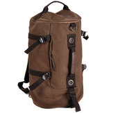 Homens de grande capacidade Canvas Travel Sports Backpack Handbag